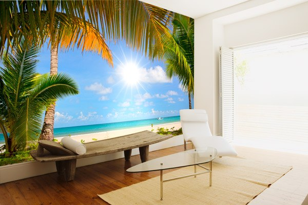 poster xxl plage. Black Bedroom Furniture Sets. Home Design Ideas