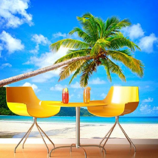 papiers peint vinyle de plages. Black Bedroom Furniture Sets. Home Design Ideas