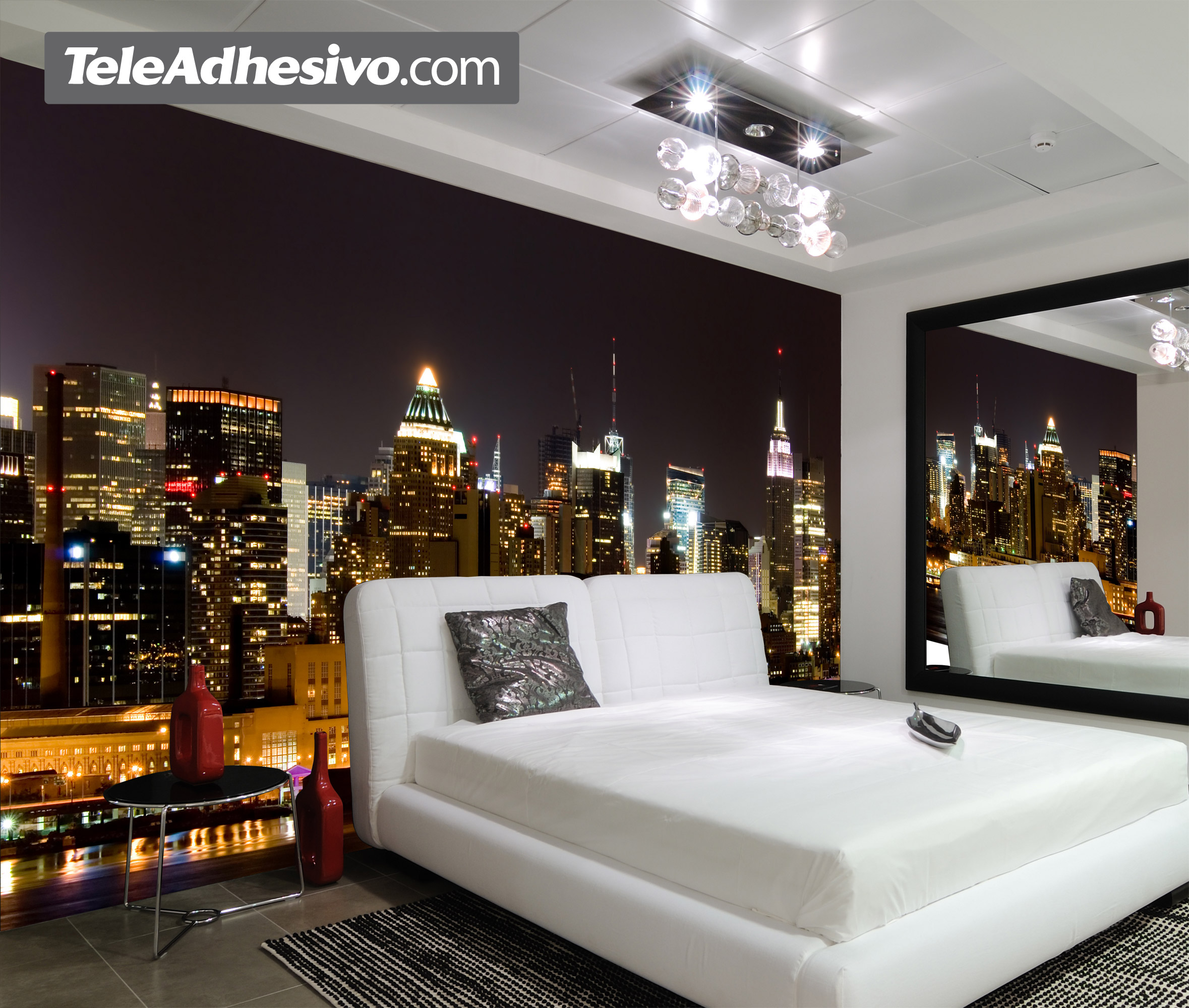 Papier peint chambre ado new york id es de d coration et for Deco de chambre new york