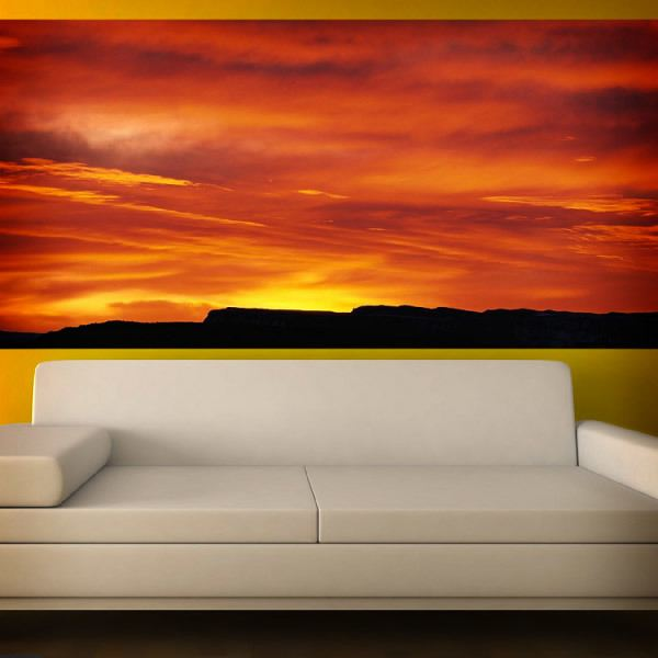 poster xxl coucher de soleil rouge tre. Black Bedroom Furniture Sets. Home Design Ideas