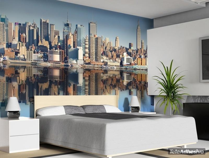 papier peint vinyle new york 12. Black Bedroom Furniture Sets. Home Design Ideas