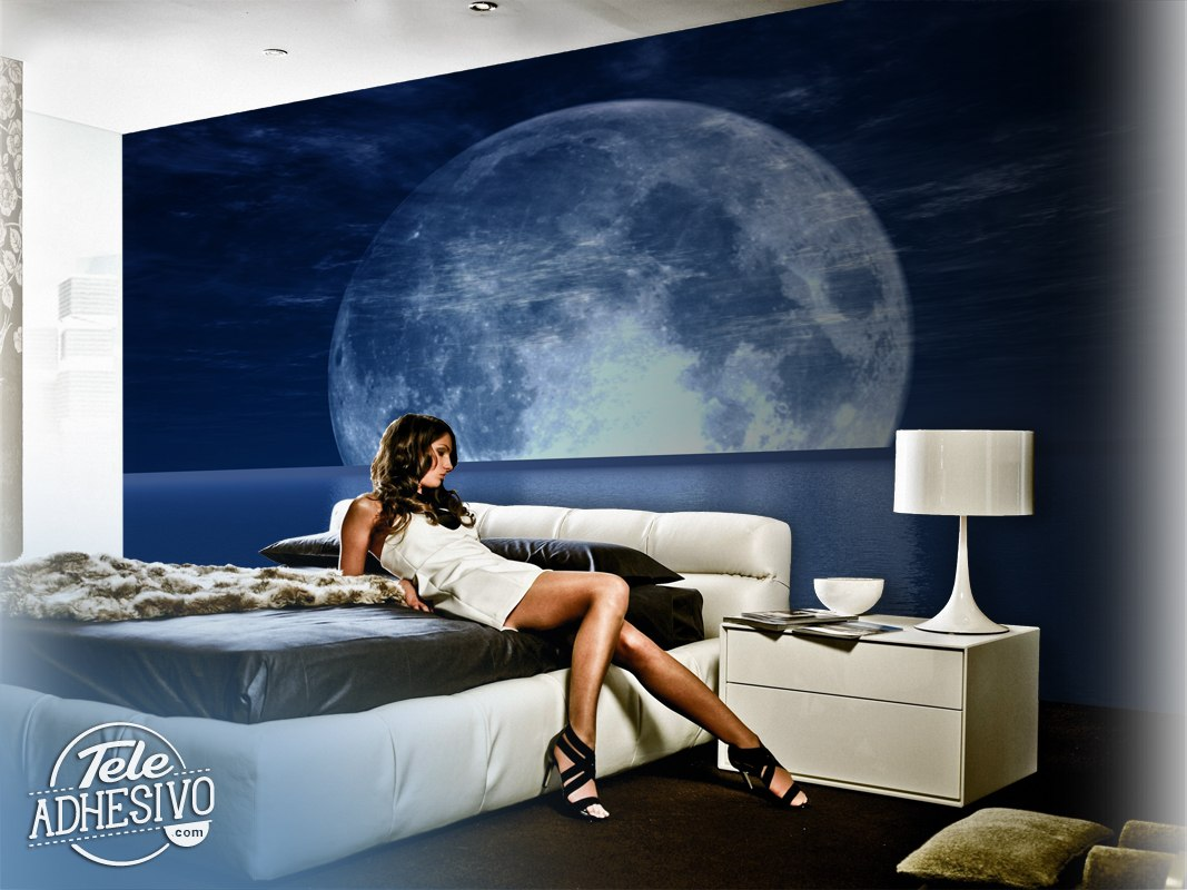 poster xxl lune et mer. Black Bedroom Furniture Sets. Home Design Ideas