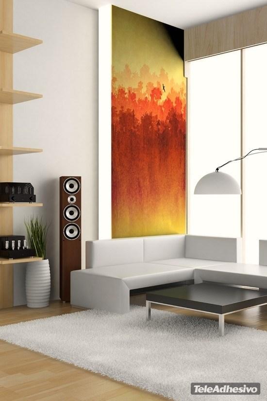 papier peint vinyle aquarelle paysage. Black Bedroom Furniture Sets. Home Design Ideas