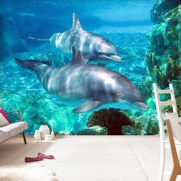 Papiers peint vinyle sous la mer