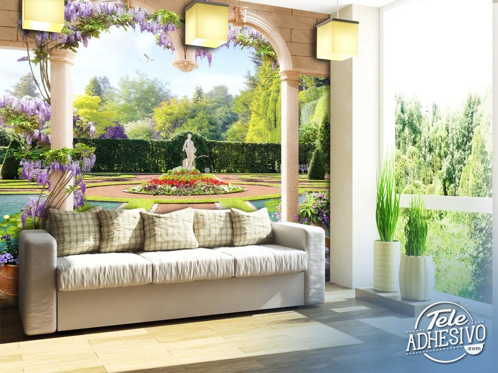 Papier peint vinyle jardin du palais for La maison du papier peint