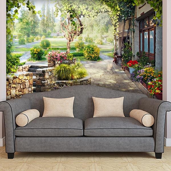 papiers peint vinyle de paysages ruraux. Black Bedroom Furniture Sets. Home Design Ideas