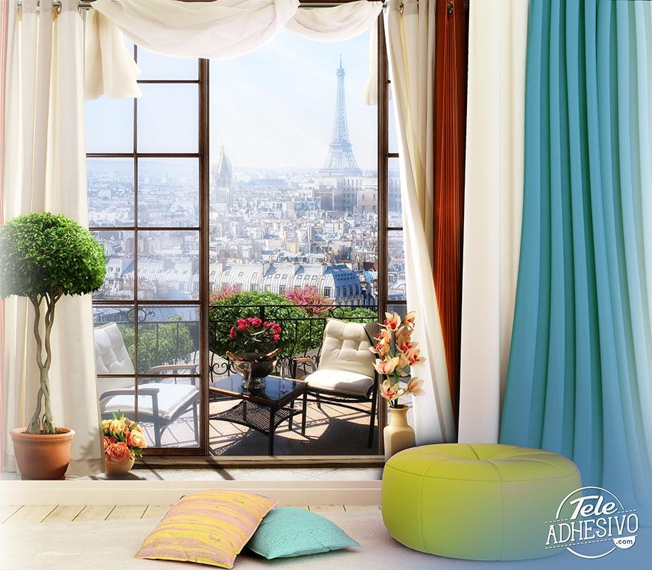 Papier peint vinyle terrasse paris 2 - Poster xxl paris ...