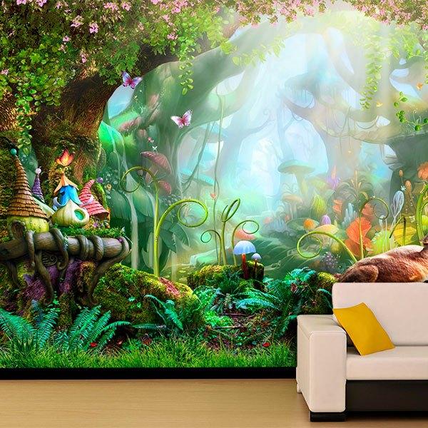 Papier peint vinyle Forêt de fantaisie