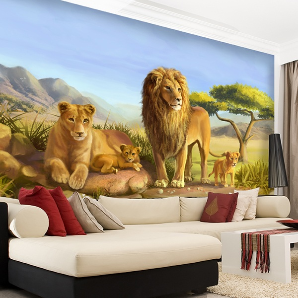 Poster xxl: Famille Lions