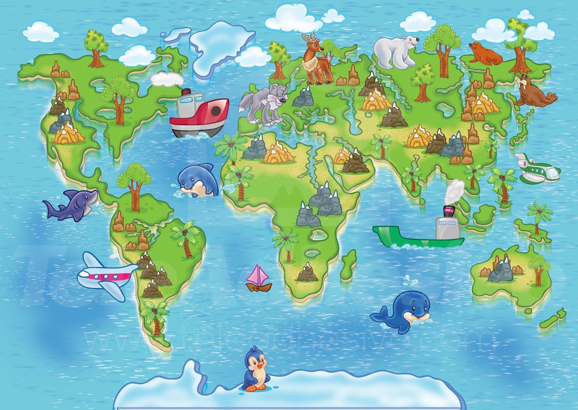carte du monde pour enfants 3. Black Bedroom Furniture Sets. Home Design Ideas