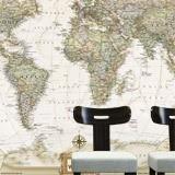 poster xxl carte du monde politique vintage. Black Bedroom Furniture Sets. Home Design Ideas
