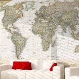 Papier peint vinyle: Carte du monde politique 3