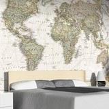 Papier peint vinyle: Carte du monde politique 4