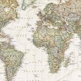 Papier peint vinyle: Carte du monde politique 5