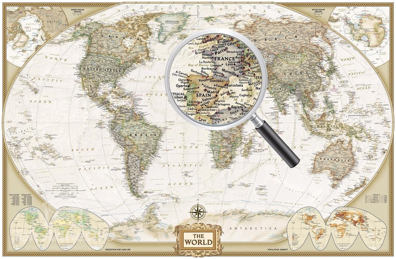 Papier peint vinyle: Carte du monde politique