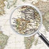 Papier peint vinyle: Carte du monde politique 6