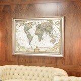 Papier peint vinyle: Carte du monde politique 7
