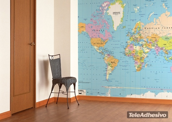 papierpeint9 papier peint carte du monde. Black Bedroom Furniture Sets. Home Design Ideas