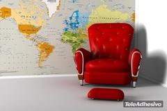 poster xxl carte du monde politique continents. Black Bedroom Furniture Sets. Home Design Ideas
