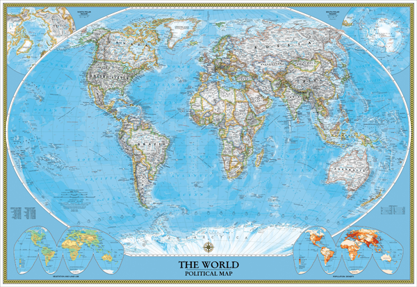 Papier peint vinyle: World Polical Map