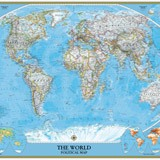 Papier peint vinyle: World Polical Map 3