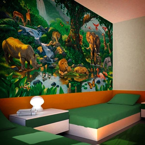 Papier peint vinyle: Jungle