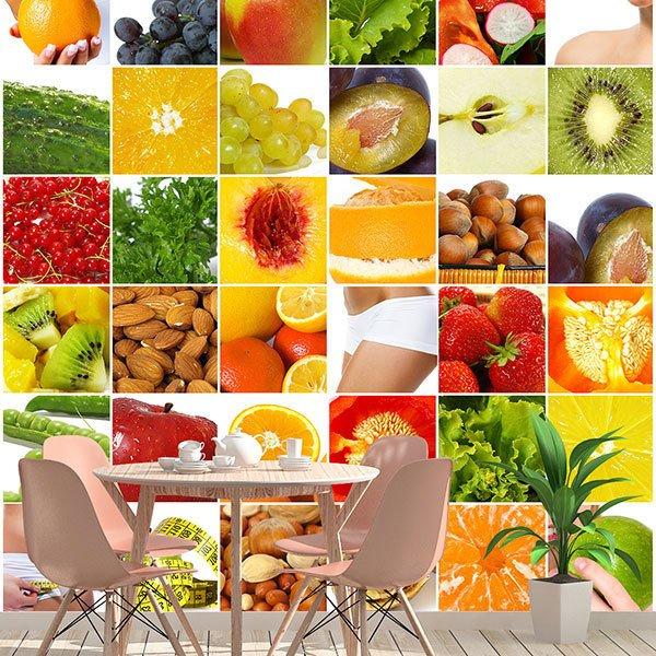 Poster Xxl Collage : poster xxl collage aus fr chten und lebensmitteln ~ Orissabook.com Haus und Dekorationen