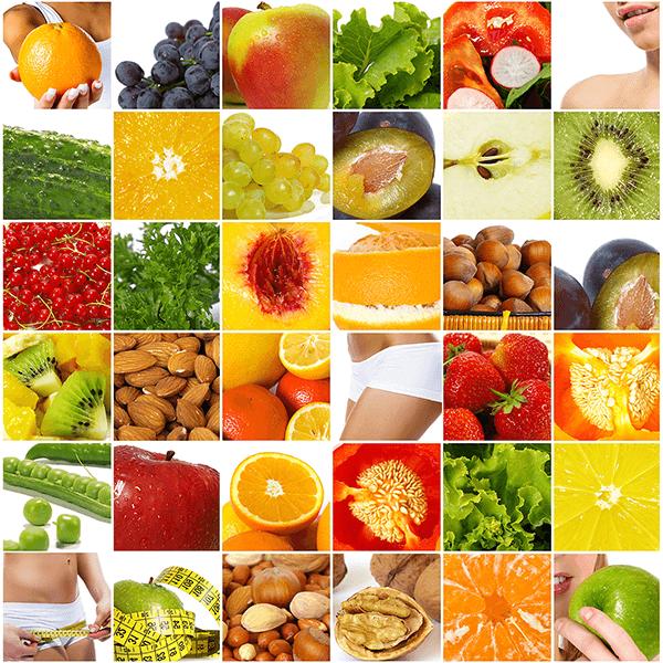 Poster Xxl Collage Aus Früchten Und Lebensmitteln