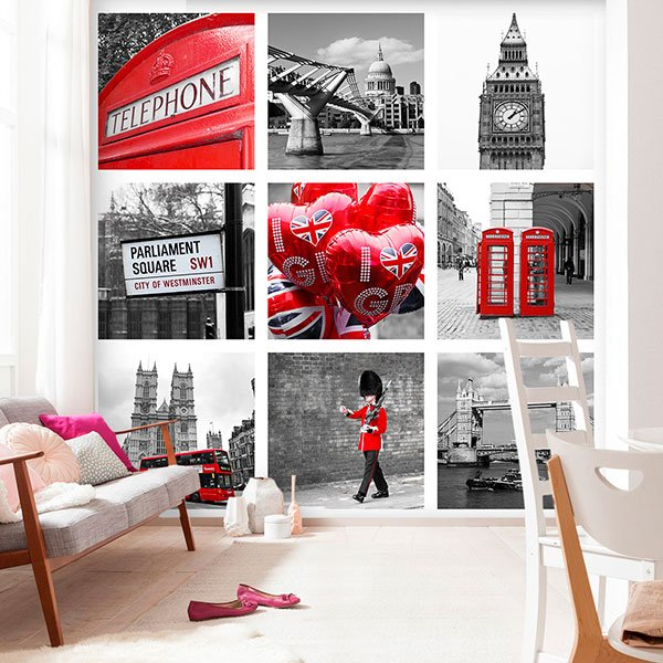 stickers muraux londres et style britannique. Black Bedroom Furniture Sets. Home Design Ideas