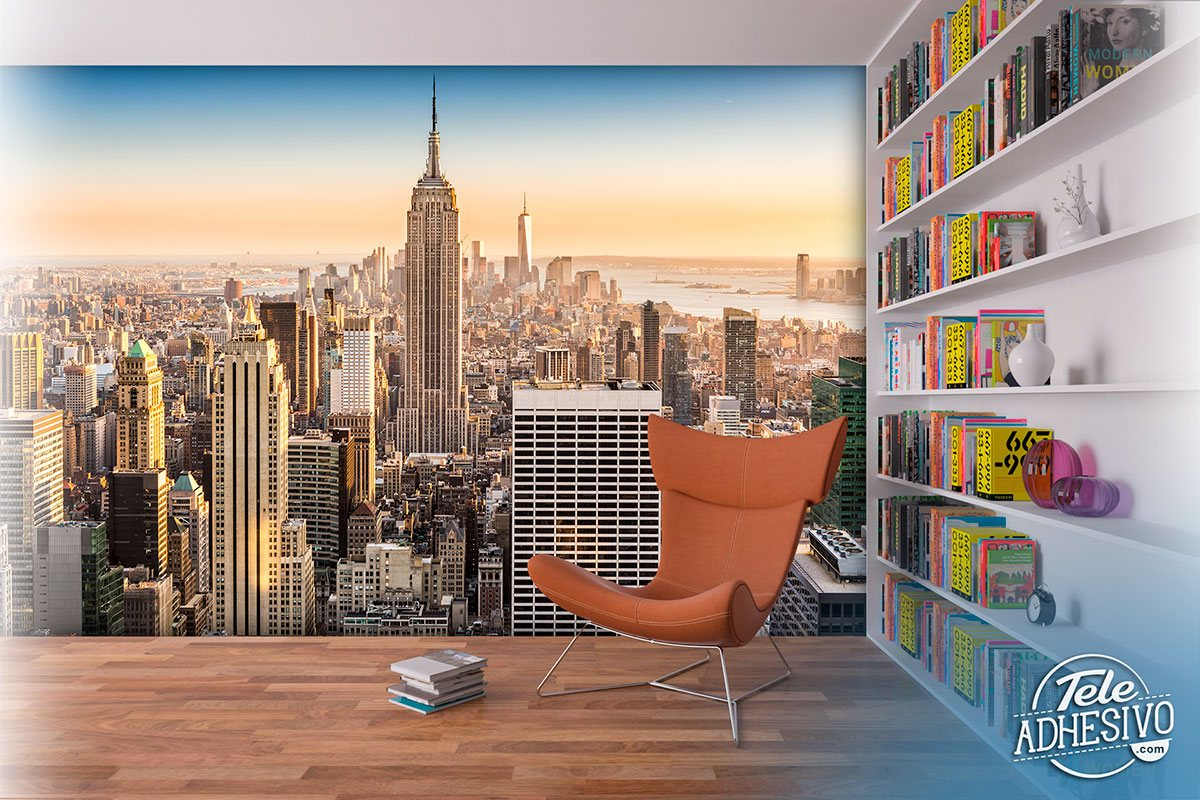 Poster xxl: Downtown Manhattan at sunset