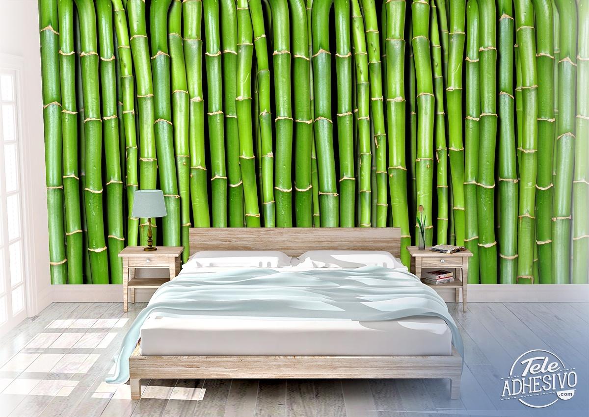 poster xxl mur en bambou. Black Bedroom Furniture Sets. Home Design Ideas