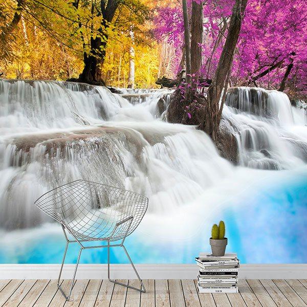 Mer calme avec forêt Nature Paysage XXL La Fresque Photo Poster p0317