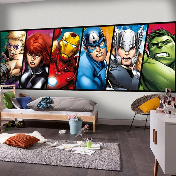 Sticker Mural Avengers Webstickersmurauxcom