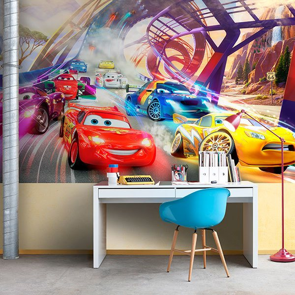 Poster xxl: Course de Cars, Disney 0