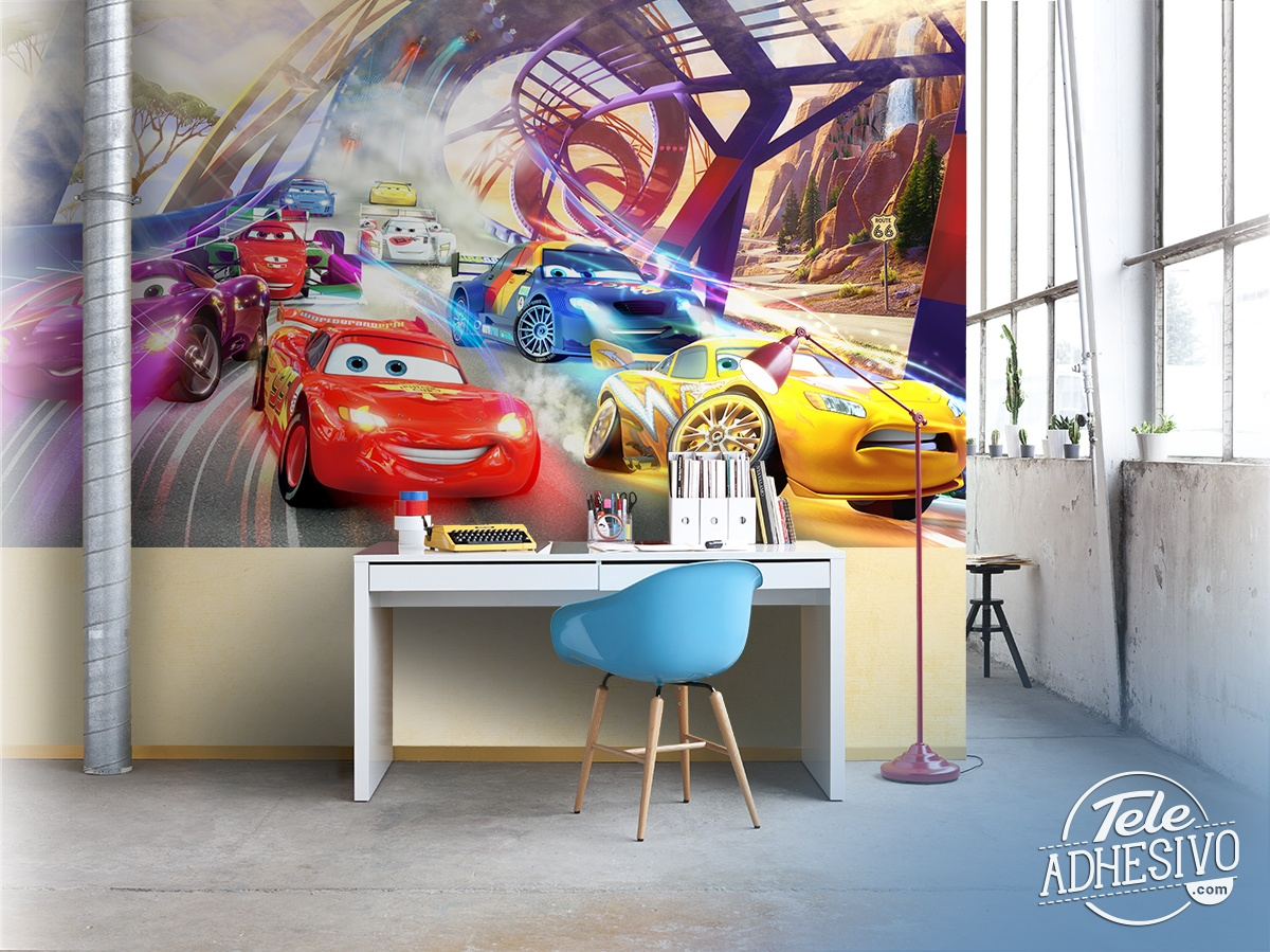 Poster xxl: Course de Cars, Disney