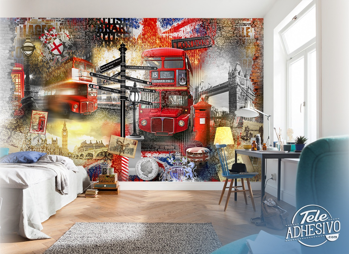 Poster xxl: Collage Londres touriste