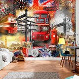 Poster xxl: Collage Londres touriste 2
