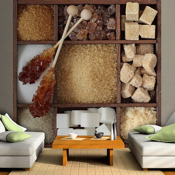 Poster xxl: Collage Assortiment de sucre 0