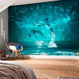 Poster xxl: Dauphins et constellations 2