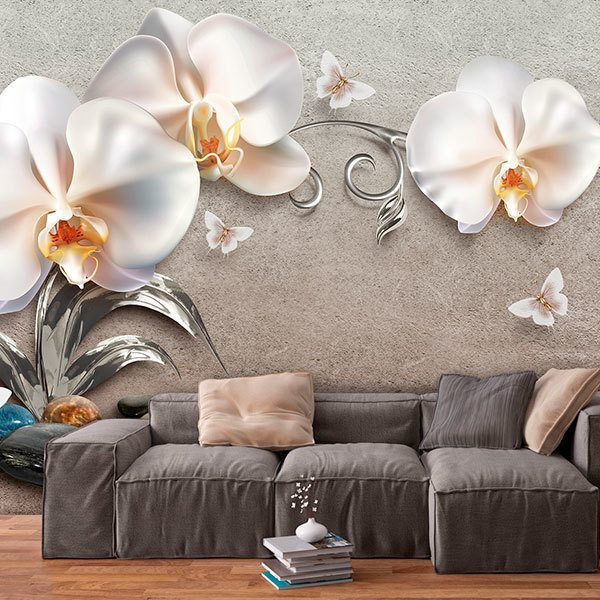 Poster xxl: Orchidées blanches