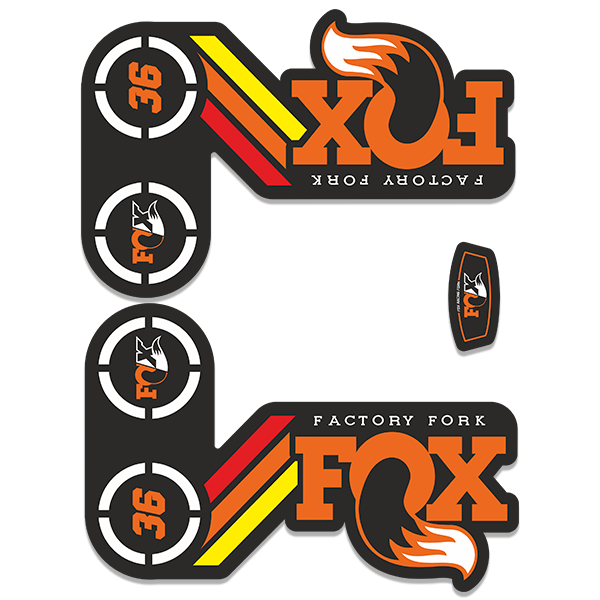 Autocollants: Fourchette Fourchette Fox Factory Kit 36