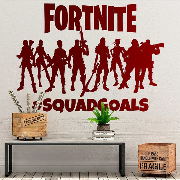 Stickers muraux: Fortnite Squadgoals Logo