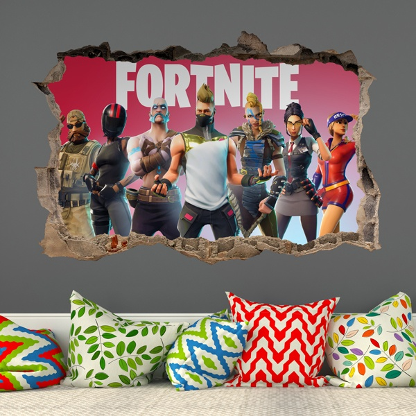 Stickers muraux: Trou Fortnite Players