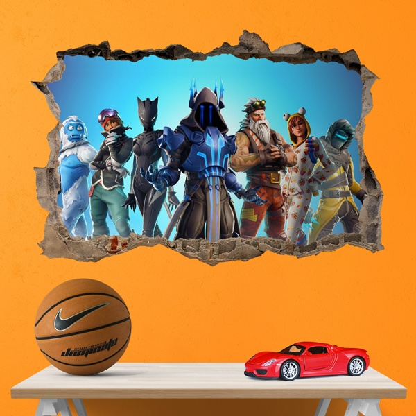 Stickers muraux: Trou Fortnite Action