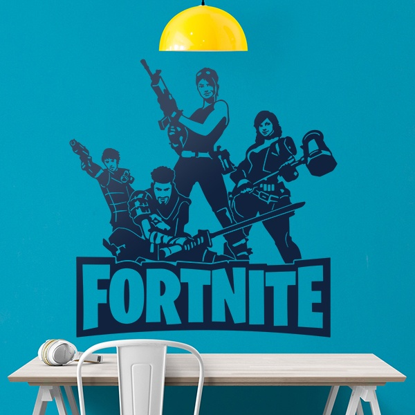 Stickers muraux: Escadron Fortnite