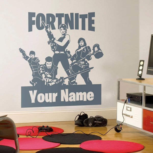 Stickers muraux: Escadron de Fortnite sur mesure