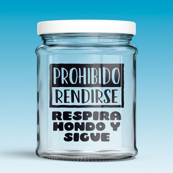 Stickers muraux: Prohibido rendirse, respira hondo y sigue