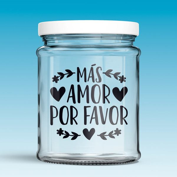 Stickers muraux: Más amor por favor