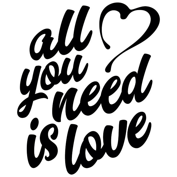 Stickers muraux: All you need is love