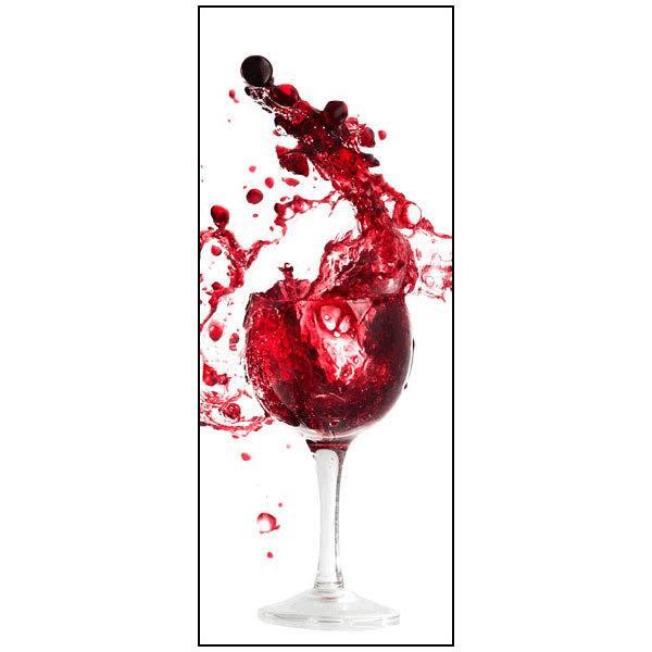Sticker réfrigérateur verre de vin rouge  